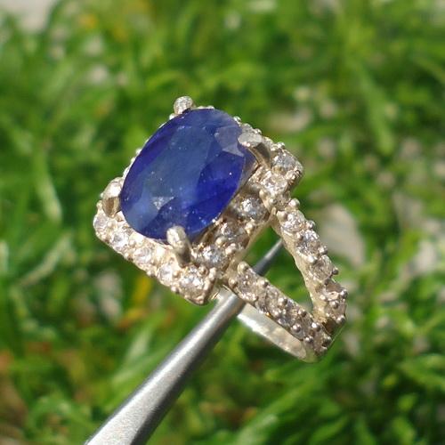 Cincin Batu Berkhasiat Blue Sapphire