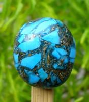 Batu Mustika Pirus Persia Urat Emas Bertuah Sakti