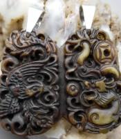 Batu Giok Kuno Naga Merak