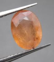 Batu Mustika Safir Kuning Orange Lulus Tes
