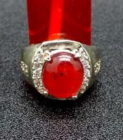 Batu Cincin Merah Delima Bersertifikat Asli