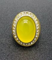 Batu Mustika Kalsedon Bertuah Aura Kuning