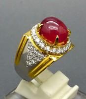 Batu Cincin Mustika Merah Delima Eksklusif