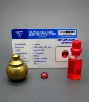 Batu Mustika Merah Delima Tarikan Bersertifikat Asli