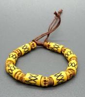 Aksesoris Gelang Tengkorak Kuning