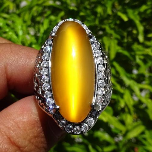 batu cincin mustika mata kucing bersertifikat asli dunia
