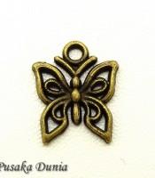 Aksesoris Bandul Kalung Kupu-kupu Antique Bronze