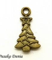 Aksesoris Bandul Gelang Pohon Natal Unique Bronze