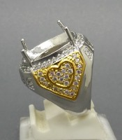 Model Cincin Perak Combinasi Motif Love