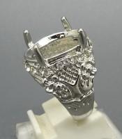 Model Cincin Rhodium Cangkang Untuk Mustika