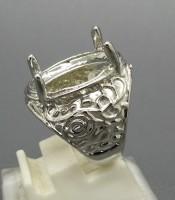 Model Cincin Rhodium Cangkang Warna Silver