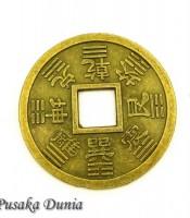 Aksesoris Koin Bertuliskan Huruf Cina