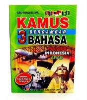 Buku Kamus Bergambar 3 Bahasa Inggris Indonesia Arab