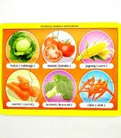 Grosir Mainan Puzzle Anak Aneka Sayuran Murah