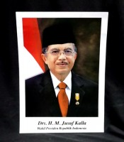 Grosir Poster Dinding Kecil Wakil Presiden Indonesia Drs. H. M. Jusuf Kalla
