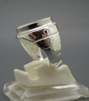 Model Cincin Alpaka Silver Motif Tiga Lingkaran