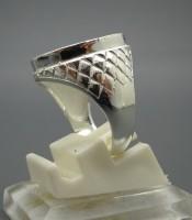 Model Cincin Alpaka Silver Motif Wajik