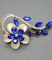 Grosir Bros Bunga Mata Kucing Daun Blue Sapphire
