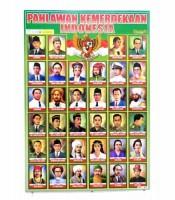 Grosir Poster Dinding Pahlawan Kemerdekaan Indonesia