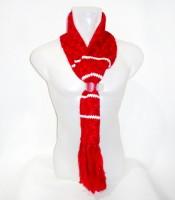 Grosir Syal Scarf Wool Rajut Warna Merah Putih
