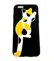 Grosir Black Silicone Case Cat Oppo A57 Murah
