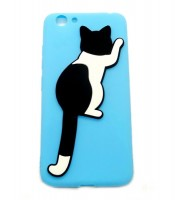 Grosir Blue Silicone Case Cat Vivo V5 Murah