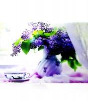 Grosir Poster Dinding 3D Bunga Lavender