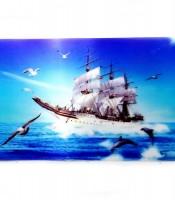 Grosir Poster Dinding 3D Kapal Layar Di Lautan