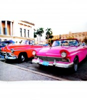 Grosir Poster Dinding 3D Taxi Vintage