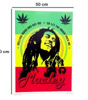 Grosir Poster Dinding Bob Marley In Rasta Colors