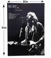 Grosir Poster Dinding Kurt Cobain And Fender