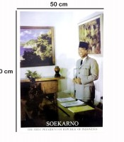 Grosir Poster Dinding Soekarno The First Presiden Of Indonesia