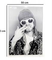 Grosir Poster Dinding Vokalis Nirvana Kurt Cobain