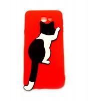 Grosir Red Silicone Case Cat Samsung J5 Prime Murah