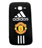 Grosir Samsung J2 Pro Silicon Black Matte Adidas Manchester United Murah