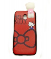 Grosir Samsung J3 Pro Red Silicone Case Hello Kitty Character Murah