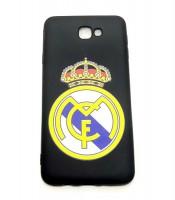 Grosir Samsung J7 Prime Real Madrid Silicon Black Matte Murah