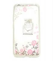 Grosir Soft Case Shining Flower Vivo Y53 Plus Ring Botol Parfum Silver Murah