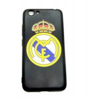 Grosir Vivo Y53 Real Madrid Silicon Black Matte Murah