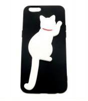 Grosir White Cat Silicone Case iPhone 6 Murah