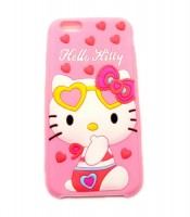 Grosir iPhone 6 Pink Silicon Case Hello Kitty Murah