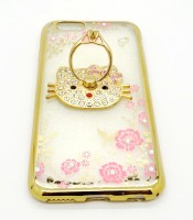 Grosir Soft Case Shining Flower iPhone 6 Hello Kitty Murah