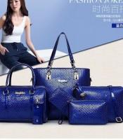 Grosir Tas Wanita 6 in 1 Blue
