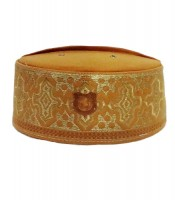 Grosir Peci Sagofah Warna Kuning Emas