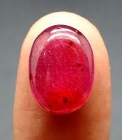 Batu Mustika Merah Delima Oval Lulus Tes
