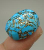 Batu Mustika Pirus Urat Emas Yang Ampuh