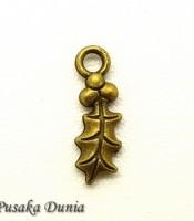 Aksesoris Bandul Gelang Daun Emas Antique