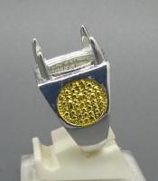 Model Cincin Rhodium Combinasi Warna Silver Emas
