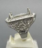 Model Cincin Rhodium Tabur Untuk Batu Mustika