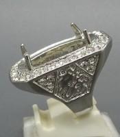 Model Cincin Rodium Cangkang Silver